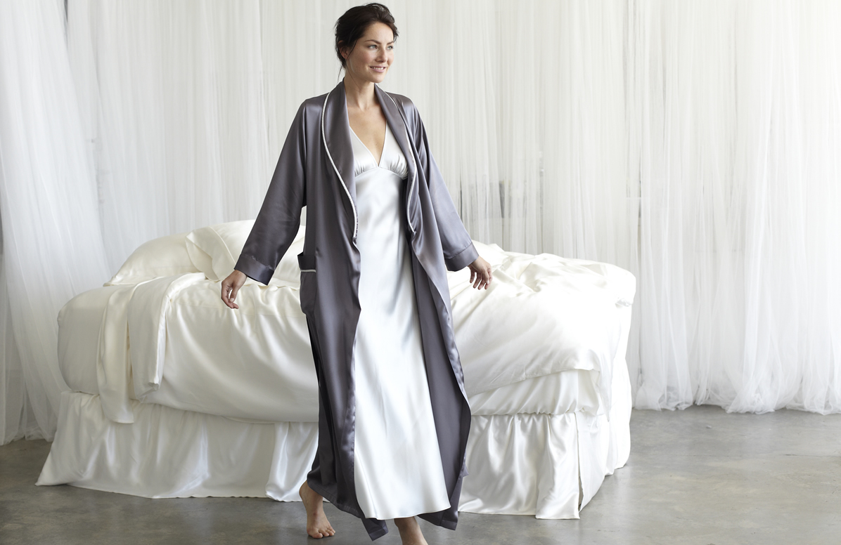 Women S Silk Bathrobes Amp Robes Silk Kimono Manito Silk